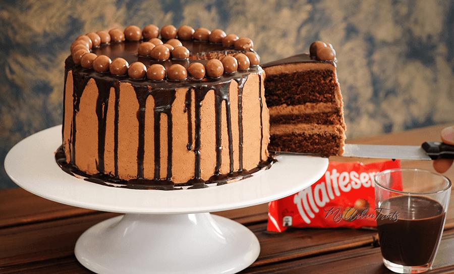 Maltesers Chocolate Drip Cake