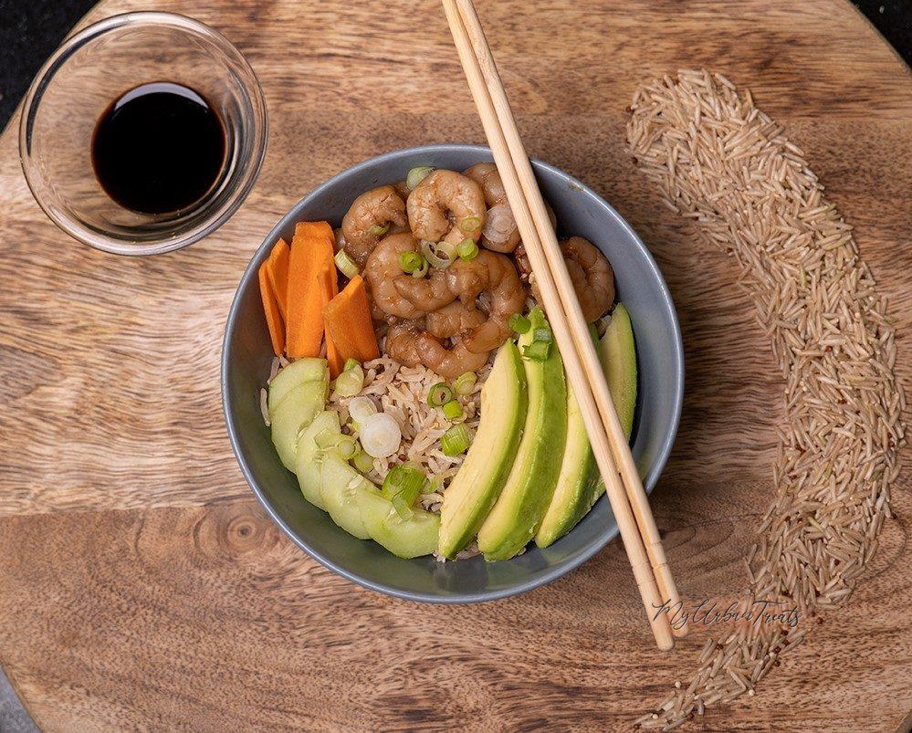 Sushi Bowl Recipe with Prawns & Quinoa