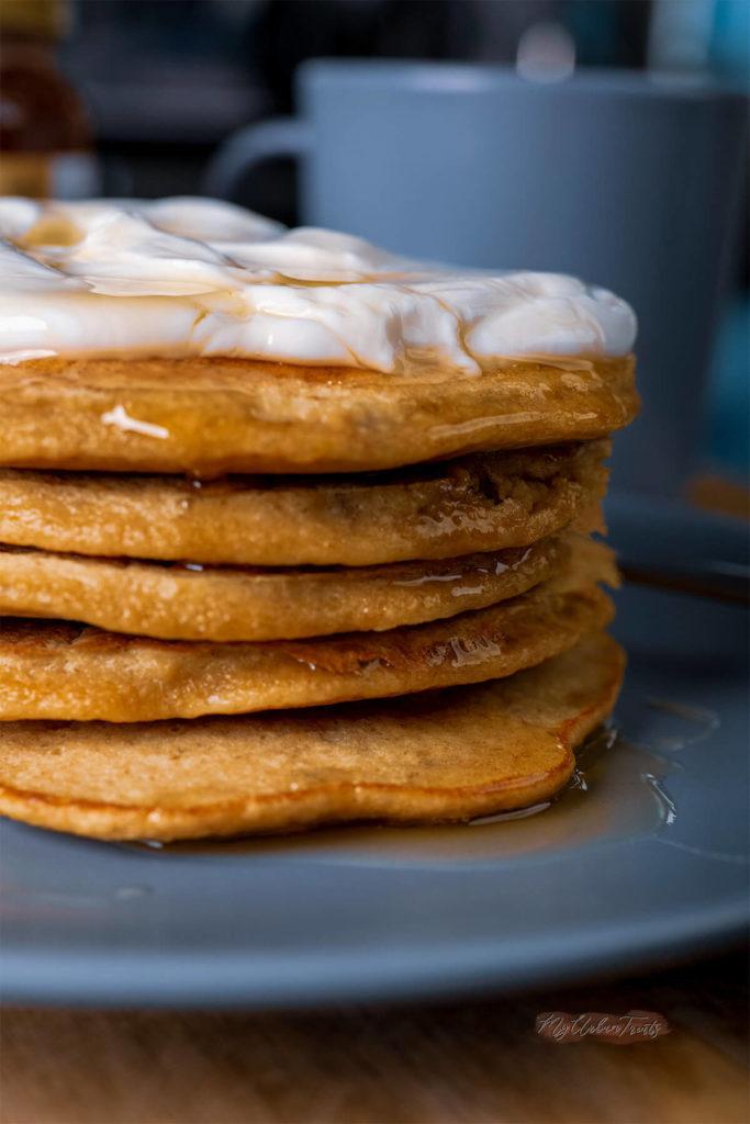 Banana Apple Oatmeal Pancakes